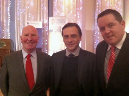 Brendan Long (CareerWise Recruitment), Dr. Constantin Gurdgiev (Shannon Chamber of Commerce) and Fearghal Keane (CareerWise Recruitment)