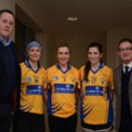 Presenting the Jersey's to the team recently at St. Joseph's Doora, Barefield GAA Club was Fearghal Keane (Senior Recruitment Consultant) Chloe Morey, Kate Lynch (Captain), Carol O'Leary and Joe Robbins (Director, CareerWise Recruitment & Clare Camogie Chairperson)