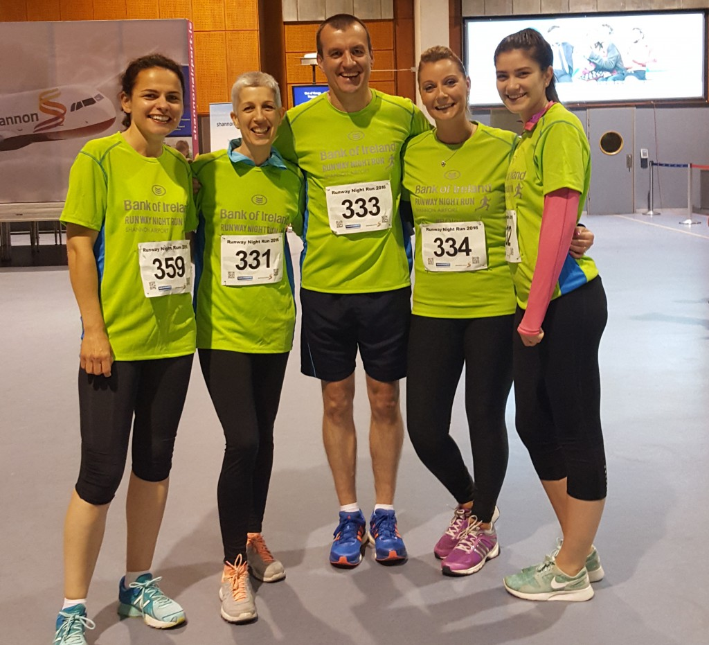 CareerWise Recruitment Take Part In Shannon Airport Bank of Ireland Runway Run 2016