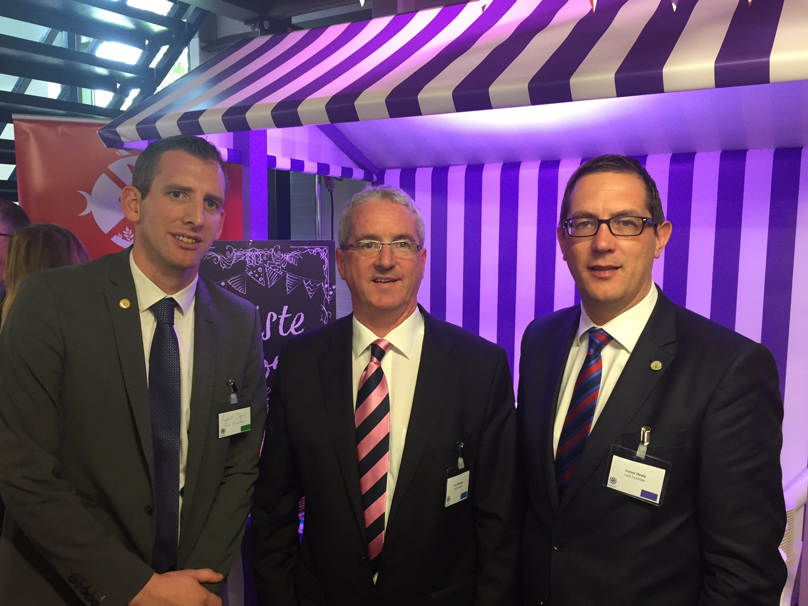 Pictured: Patrick Doyle (Cork Chamber Membership Manager), Ken Murphy (Director CareerWise) and Conor Healy (CEO Cork Chamber)