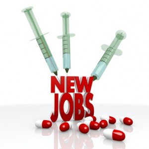 3d render of a isolated new jobs pictogram with injection