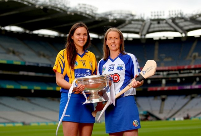 Clare's Orlaith Duggan and Emma Hannon Roche of Waterford