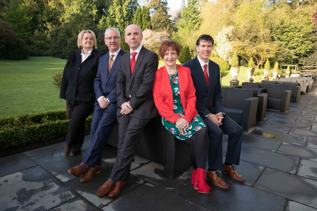 Margaret McCarthy, KenMurphy, CareerWise, Gary Kirby, CIPD, Audrey Burke McCarthy, CIPD and Rónán Ó Dubhghaill, VP External Relations UCC at a CIPD Southern Region breakfast sponsored by Careerwise Recruitment in the Maryborough House Hotel. PICTURE Darragh Kane